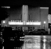 Cactus Theatre at Night by westtxphotographer