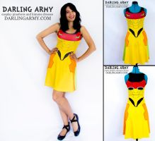 Metroid Samus Varia Suit Printed Cosplay Dress by DarlingArmy