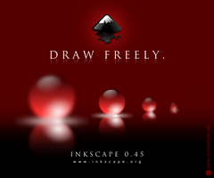 Inkscape 0.45 splash screen by molumen