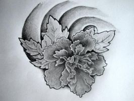 Original Peony design by eternaltattooz