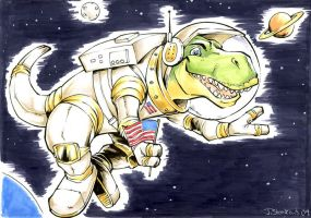 Space Dinosaur by belligerent