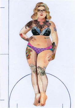 Fat Acceptance Feminist Paper Doll by Emma888