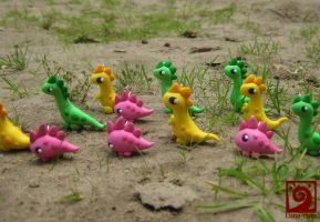 Dino herd by Luna-cuteXD