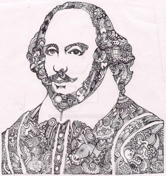 Doodle - Shakespeare Portrait by Simonbagel