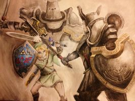 Loz: Link vs Darknuts by ZarakiVal