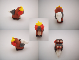 Chibi Entei Sculpture by CharredPinappleTart