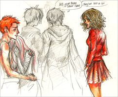 HP Hermione and Ron Casualties by andreanna