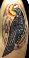 Crow tattoo by neonpaledead