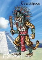 Tezcatlipoca Base Card Art - Terry Pavlet by Pernastudios