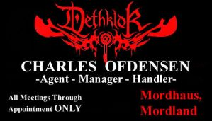 Dethklok Business Card by Carthoris