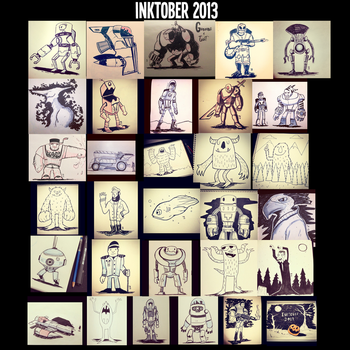 Inktober 2013 by Yeti-Labs