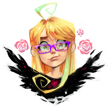 Self Portrait by Krooked-Glasses