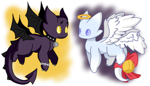 [OPEN - AUCTION] Devil and sweet not-so-flora by Ayinai