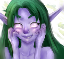 Night elf by Airusa-Chan
