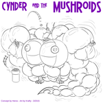Cynder and the Mushroids by GrottoKraft