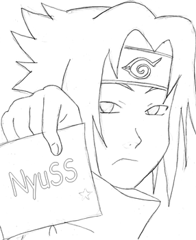 Sasuke Letter by NyuSS