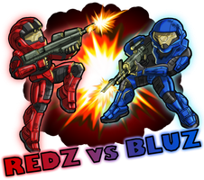 REDZ vs BLUZ by alexsanlyra