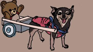 Chihuahua Pulling a Cart by stratusxh