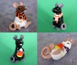 Halloween Rats by DragonsAndBeasties