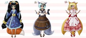 Lolita Foxies Auction batch 1 - OPEN by sonisadopts