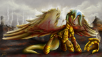 Fanart - MLP. Immovable Force by jamescorck