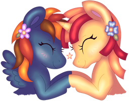 Raindew and Pixel Perfect - Connected Forever by RosaIine