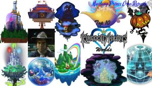MPOR Top 10 Kingdom Hearts Worlds by montey4