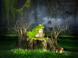 Funny cartoon toad  character. by AlexandraF