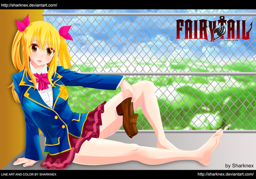 Fairy tail - Lucy schoolgirl (version 2) by sharknex
