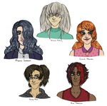 main cast without white people by Eternala