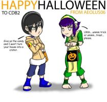 Halloween Jam: Toph and Hinata by DaCommissioner