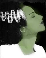 Me as Bride of Frankenstein by poisonapple1982
