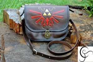 LEGEND OF ZELDA - LEATHER BAG - FOR SALE. by EverDream-Adopts