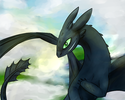 Cloudy with a chance of Toothless by lucelic