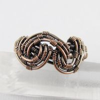 Freeform Woven Copper Ring by sylva