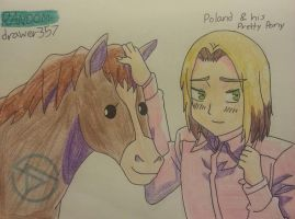 Poland And His Pretty Pony by RANDOM-drawer357