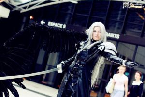 Sephiroth 'I had to fall to lose it all.' by Hirako-f-w