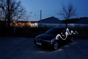 bmw e46 - 5 light painting by Lunox-baik