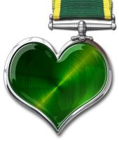HEART chrome medal by mycort