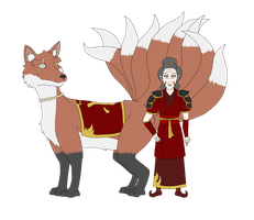 Avatar: War of Wei Sheng- Avatar Junko and Inari by R-Zion
