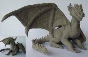 Dragon ( second Wip) by Hexenglut