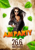 Flyer Abi Party Waldhaus by Craiqqi