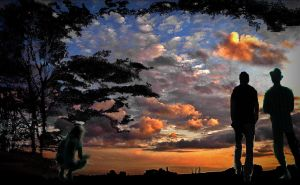Silhouettes at sunset by April-Mo