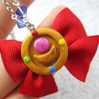 Sailor Moon brooch necklace by TrenoNights