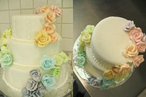 rose wedding cake by Yellowmelle