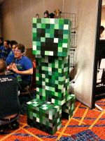 Life Sized Animatronic Creeper by ckrickett
