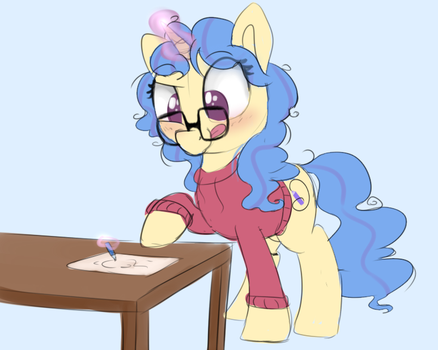 Eleos the drawing horse by PucksterV