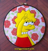 Lisa Simpson Hoop by iggystarpup
