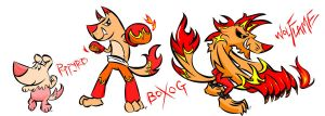 fire dog for bordxxx by ahkaou