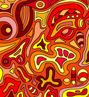 Abstract Lineart 9-color by drachenlilly